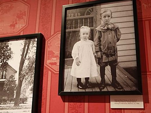 This image is found in gallery one and shows Walt with his sister Ruth.